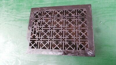 Vintage VICTORIAN Cast Iron Floor Grille Heat Grate Register 13 x 10