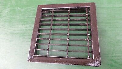 Vintage VICTORIAN Cast Iron Floor Grille 14x14 Heat Grate Register