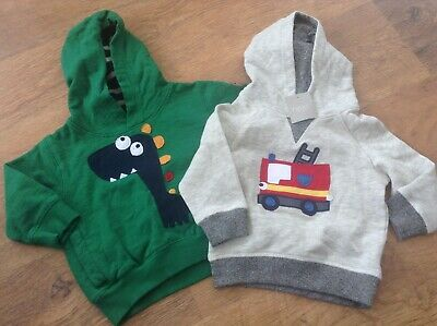 100% Next Baby Boys Small Bundle Of Cute Hoodies Age 9-12Mths