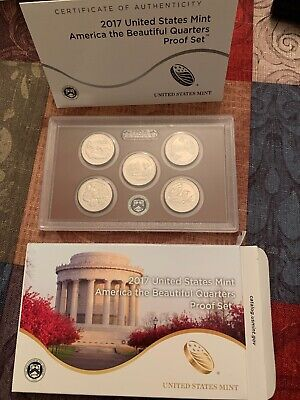 2017-S US Mint PROOF AMERICA THE BEAUTIFUL QUARTERS 5 ATB with Box/COA Exc Cond