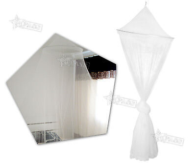 NEW House Mosquito Net Bed Single King Midge Insect Fly Canopy Netting White SD