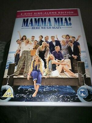 Mamma Mia! Here We Go Again 2 Disc Dvd Uk Region 2 Includes Sing-Along Edition
