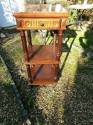 Super Quality Antique French Rosewood Mable Bedside / Lamp Tables Cabinet