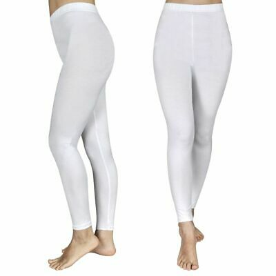 vidaXL Set de 2 leggings fille Blanc 134/140 paires de leggings Lavables machine