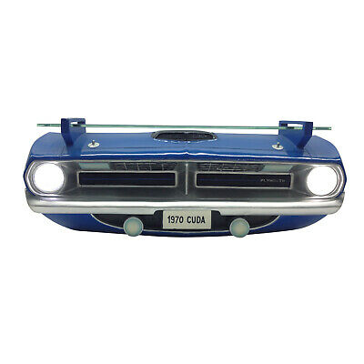 Regal Dodge Cuda 1970 Plymouth Barracuda 3D mit Beleuchtung Wandregal Licht
