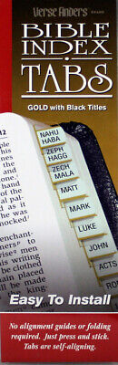 Bible Index Tabs Verse Finders NEW Gold Black Titles O&N Testaments Thin Pack