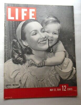 LIFE MAGAZINE May 22 1944 Allies New Guinea Airmen in Aleutians WWII Vintage ADS