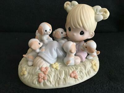 Precious Moments They Call It Puppy Love Porcelain Figurine 630012 Girl Puppies