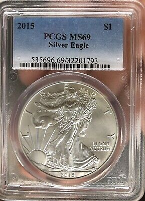 2015 American Silver Eagle PCGS Certified MS 69