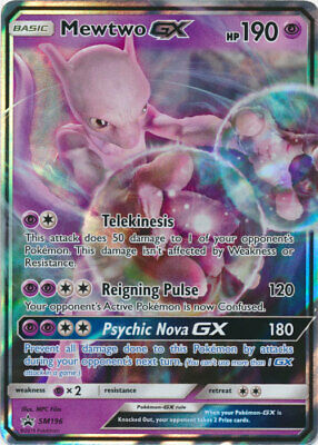 Pokemon Mewtwo GX SM196 Detective Pikachu Promotional NM-Mint Fast Shipping!