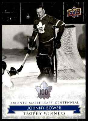2017-18 Toronto Maple Leafs Centennial Johnny Bower #117