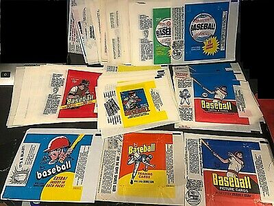 O-Pee-Chee  Topps & Fleer Baseball LOT of  164  Vintage Wax Pack EMPTY WRAPPERS