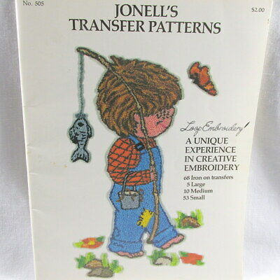 Jonell's 68 Iron On Transfer Patterns Loop Embroidery New 1977 Trace Punch