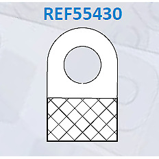 Self Adhesive Hang Tabs Round Hole on Sheets Pack of 2000 units