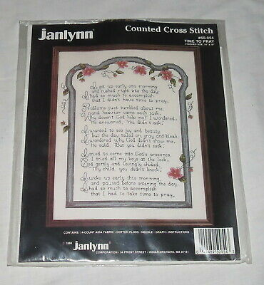 Janlynn Counted Cross Stitch Kit Time to Pray 50-954 NEW
