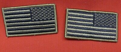 US Army Flag OCP/MULTICAM Subdued Reverse   Military Tactical Patch SET OF 2 NEW