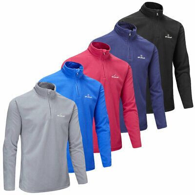 Stuburt Mens Urban Quarter Zip Fleece Thermal Golf Sweater Pullover
