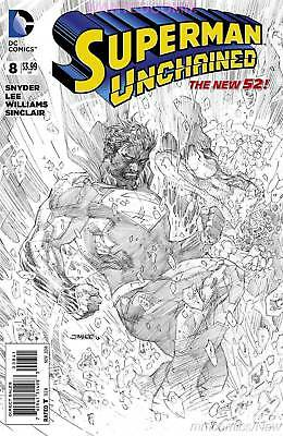 Superman Unchained #8 1:100 Jim Lee Sketch Variant Cover Scott Snyder New 1