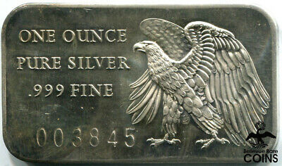 1976 American Eagle 200 Years of Independence 1 Troy Oz .999 Fine Silver Bar