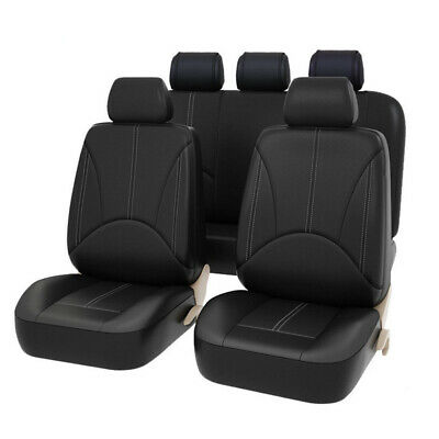 Universal Leather Seat Cover for Cars Cushion Front+Rear Set Protector Pad Mat