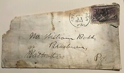 Envelope Postmarked Apr 11 1893 Greensburgh, PA 2 Cent Cancelled Stamp