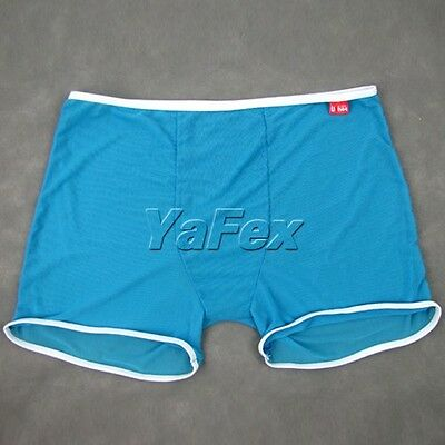 Free Size Sexy Mens Pure Spandex Underwear Boxers Trunks See Through Underpants