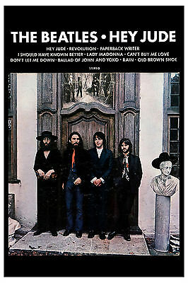 The Beatles *Hey Jude* Capitol Promo Poster 1970 WINDOW CARD 13 x 19