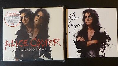 """Alice Cooper - Autographed """"Paranormal"""" Signed Cd Booklet & New 2Cd Sealed Cd"""