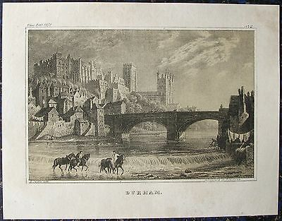 DURHAM in ENGLAND. Originale Lithographie, datiert 1836