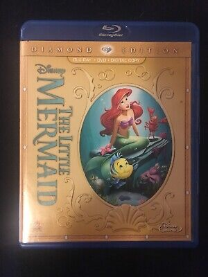 The Little Mermaid (Blu-ray/DVD, 2013, 2-Disc Set, Diamond Edition Includes...