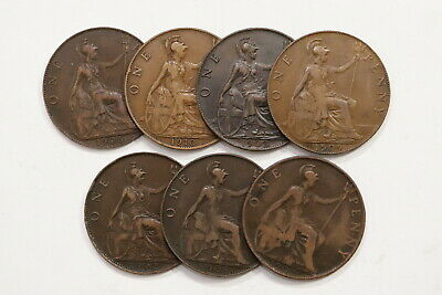 Uk Gb Penny Collection From Edward Vii Sharp Details B10 Wt35