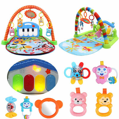 Fitness Baby Gym Play Mat Lay Play Activity Music Lights Fun Piano Toys Boy Girl