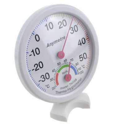 Thermometer Hygrometer Measuring Indoor Outdoor Temperature Humidity White