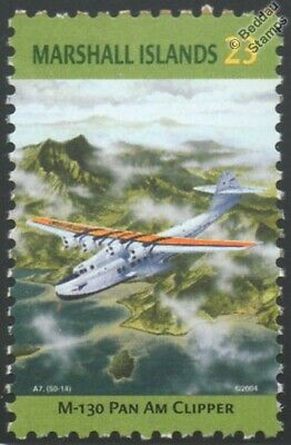 PAN AM Martin M-130 Clipper Flying Boat Seaplane Aircraft Stamp/Marshall Islands
