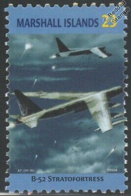 USAF BOEING B-52 STRATOFORTRESS Heavy Bomber Aircraft Stamp (Marshall Islands)