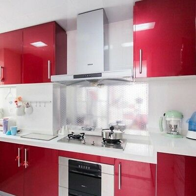 Glossy Wall Sticker Paper Waterproof Kitchen Cupboard Home Self-Adhesive Strict