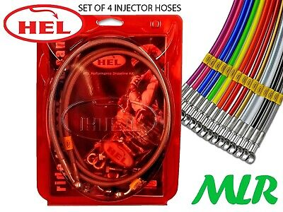 Hel Performance Porsche 924 M12 Injector K-Jet S/S Braided Fuel Injection Hoses