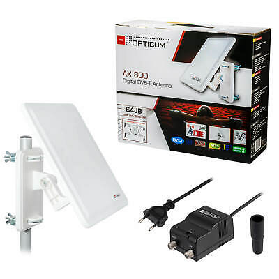 Digital Full Ultra HD 4K DVB-T2 Freenet TV Außenantenne AKTIV Antenne HEVC 64dB
