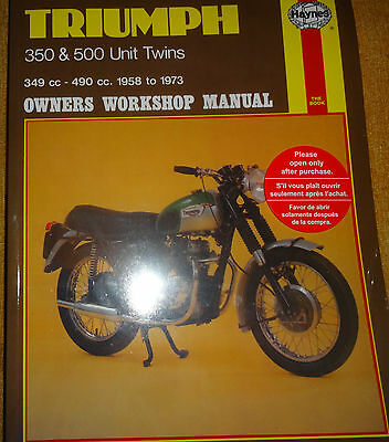 "Triumph 350/500 Twins 1958-1973 ""Haynes""  Workshop Manual"