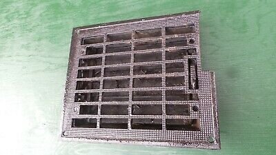 Vintage VICTORIAN Cast Iron Floor Grille Heat Grate Register