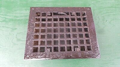 Vintage VICTORIAN Cast Iron Floor Grille Heat Grate Register + Louvers