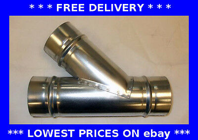 Unequal 45 degree tee,T piece, ducting, ventilation, pipe connector, hydroponic