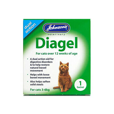 Johnson's Veterinary Diagel for Cats Aids Constipation & Digestive Orders 3-6kg