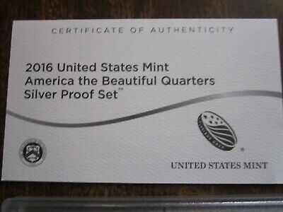 2016 United States Mint America the Beautiful Quarters Silver Proof Set
