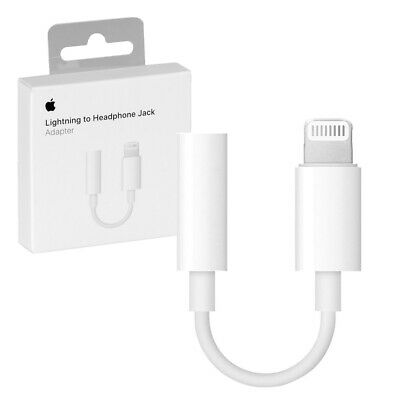 Genuine Apple Lightning to 3.5mm Headphone Jack Adapter iPhone 8/8+ & 7/7+ Plus