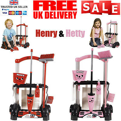 Henry Hetty Cleaning Trolley Vacuum Cleaner Hoover Casdon Kids Fun Role Play Toy