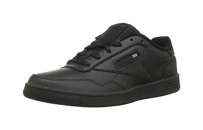 REEBOK Men Shoes Club Memt Wide 4E Black Gray Synthetic Leather Low  Memory Tech