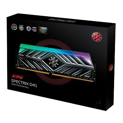 XPG SPECTRIX D41 16GB (2 x 8GB) 288-Pin DDR4 3000 CL16 RGB Memory