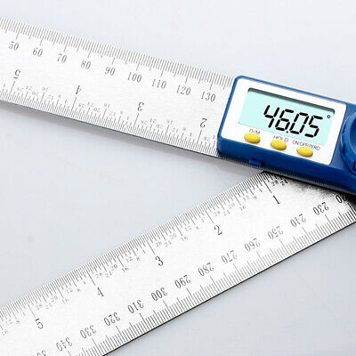 0-200mm Digital Angle Finder Protractor Goniometer Electronic Gauge Ruler 0~360°