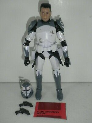 """Star Wars The Black Series Clone Commander Wolffe Hasbro Complete 6"""" Scale"""